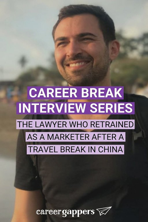 Michael Alexis was a lawyer in Canada before taking career break to travel in China. After a six-month journey, he embraced a new career in marketing. #careerbreak #sabbatical #careerchange #newcareer #travelcareerbreak
