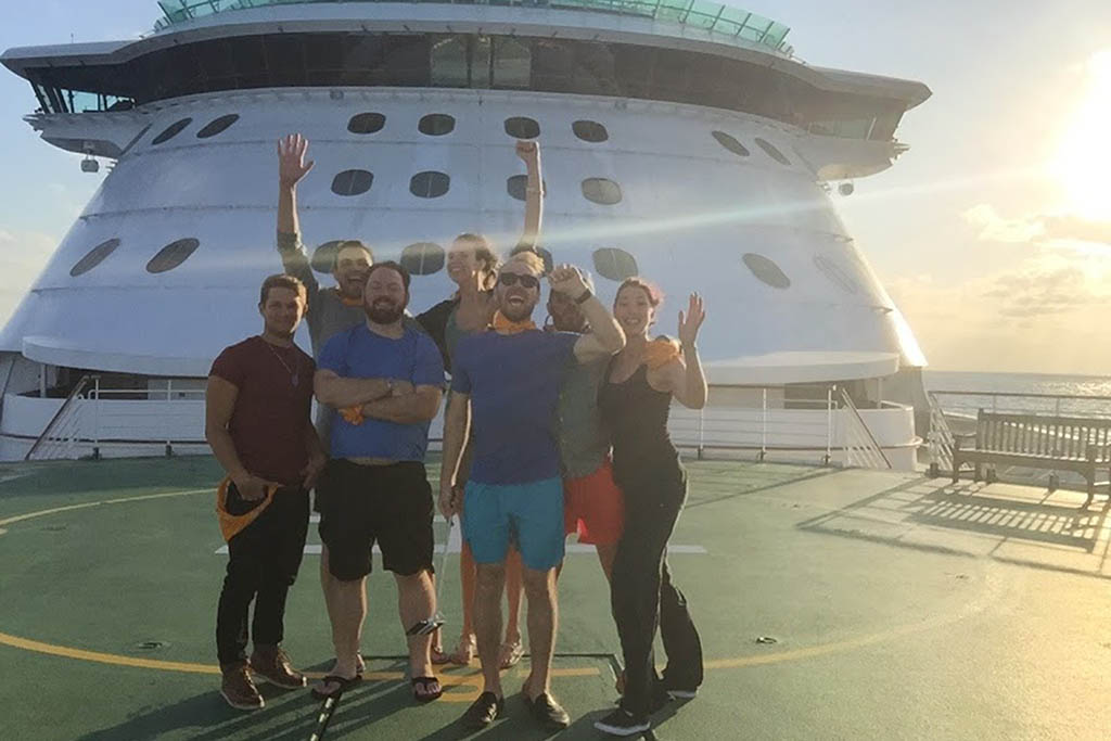 Museum hack team on cruise retreat