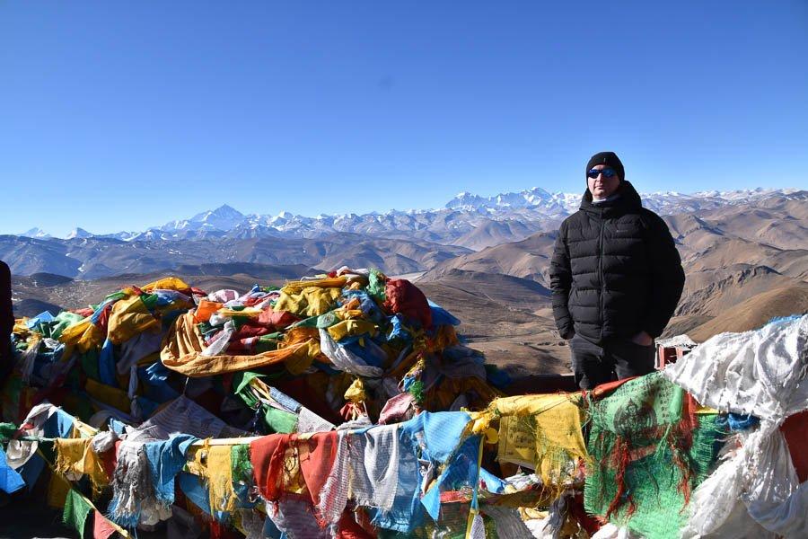Steve Rohan on his way to Everest, Tibet Jan 2020