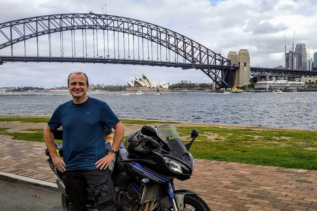Alex Petrov Sydney motorbike journey
