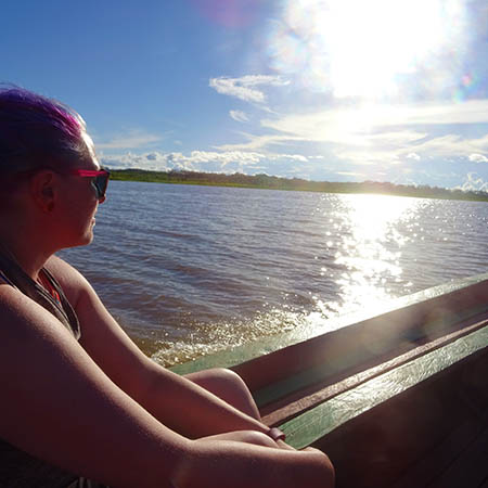 Amazon riverboat sunset small group tours in South America