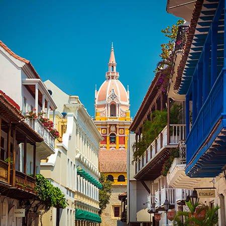 Cartagena colourful buildings