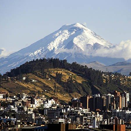 Cotopaxi volcano near Quito Ecuador