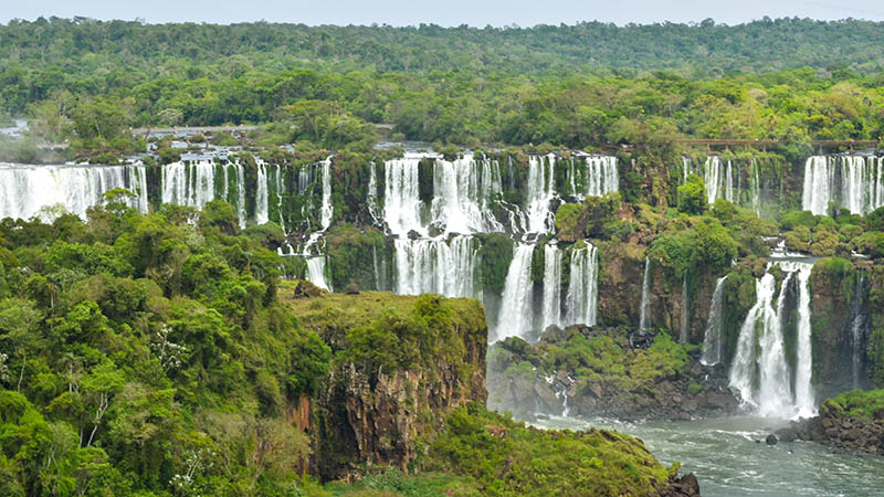 Iguassu Falls Brazil side view
