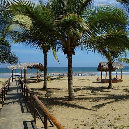 Puerto Lopez beach Ecuador