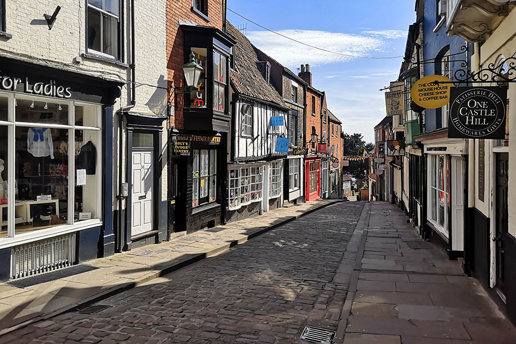 Steep Hill Lincoln in lockdown
