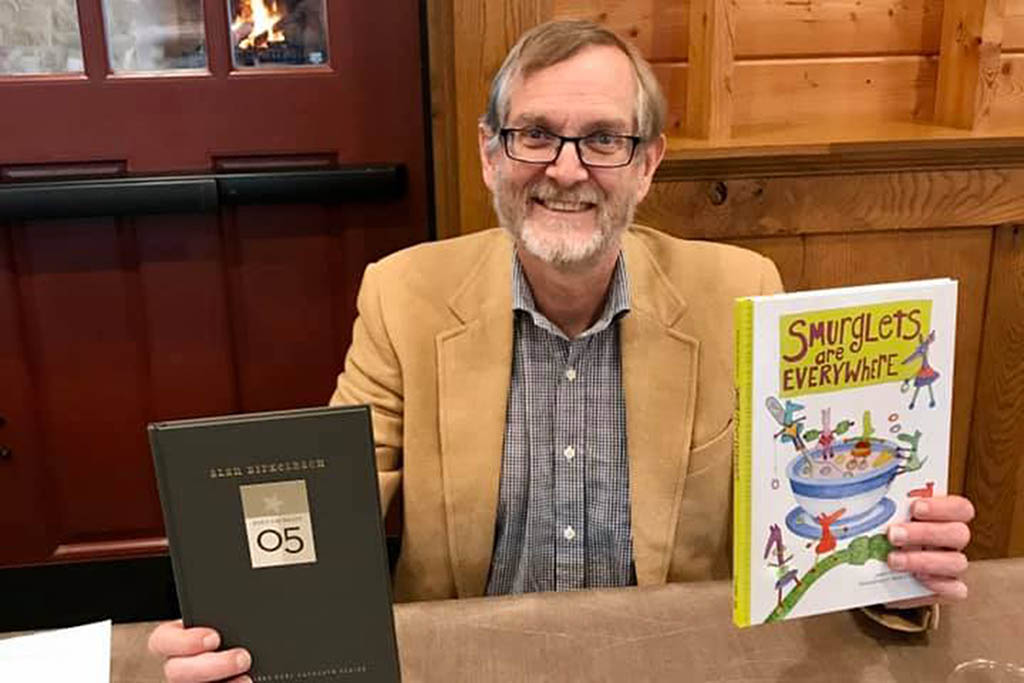 Alan Birkelbach at TCU press book signing event 2019