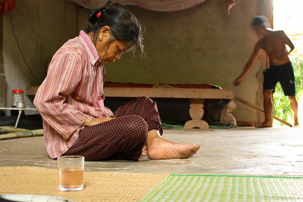 Sharing tea in Vietnam