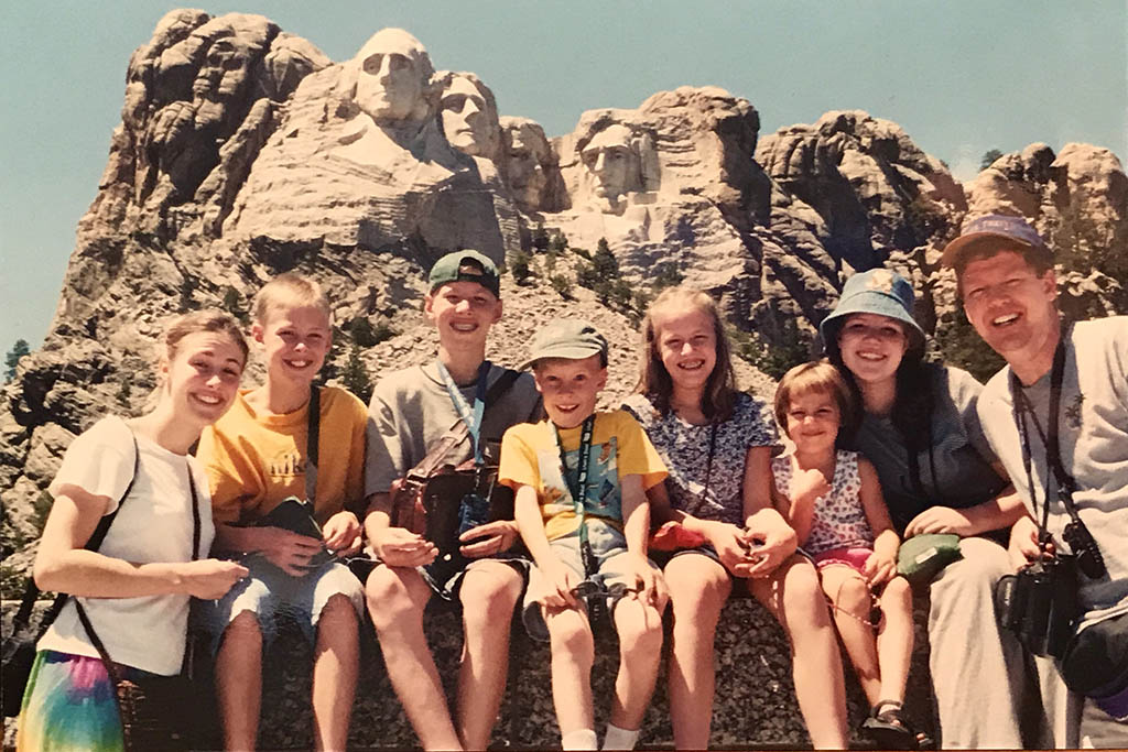 Tim's family travelled through the USA's iconic sites on his first sabbatical