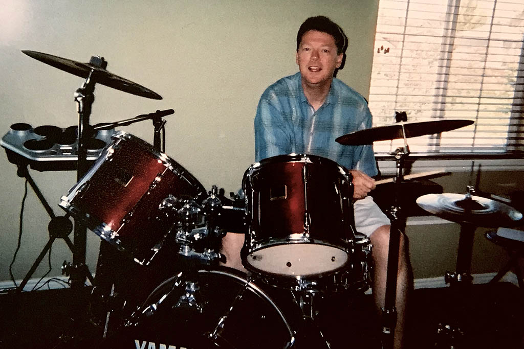Tim stayed at home on his second sabbatical to learn the drums and unwind