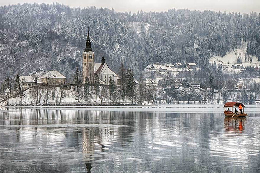 Lake Bled is one of the very best winter destinations in Europe
