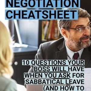 Sabbatical Negotiation Cheatsheet cover preview