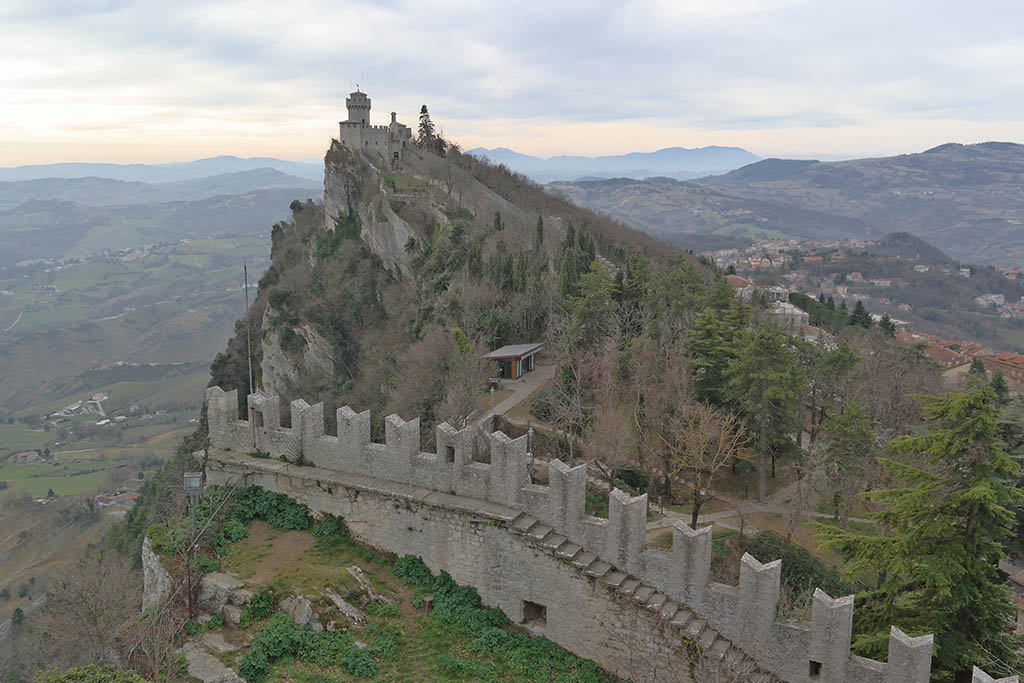San Marino in winter