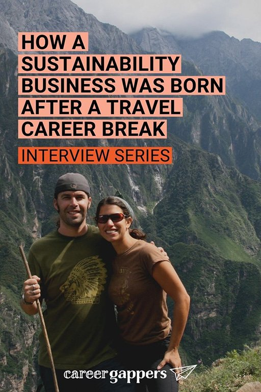 Stephanie Katsaros created a sustainability business, Bright Beat, after taking a travel career break. She tells her story in this interview. #careerbreak #sustainabilitybusiness #timeout #travelcareerbreak #careerchange