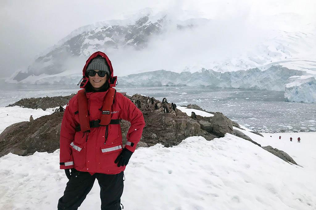Adrian Granzella Larssen in Antarctica