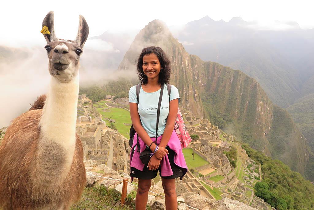 Manisha Singh Machu Picchu alpaca