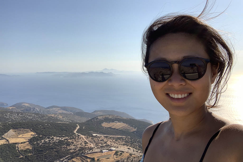 Pam Yang in Greece