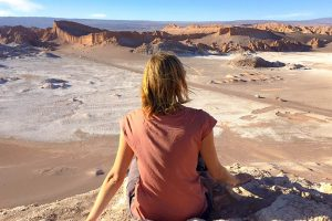 Ilona at Valle de la Luna in the Atacama Desert, Chile