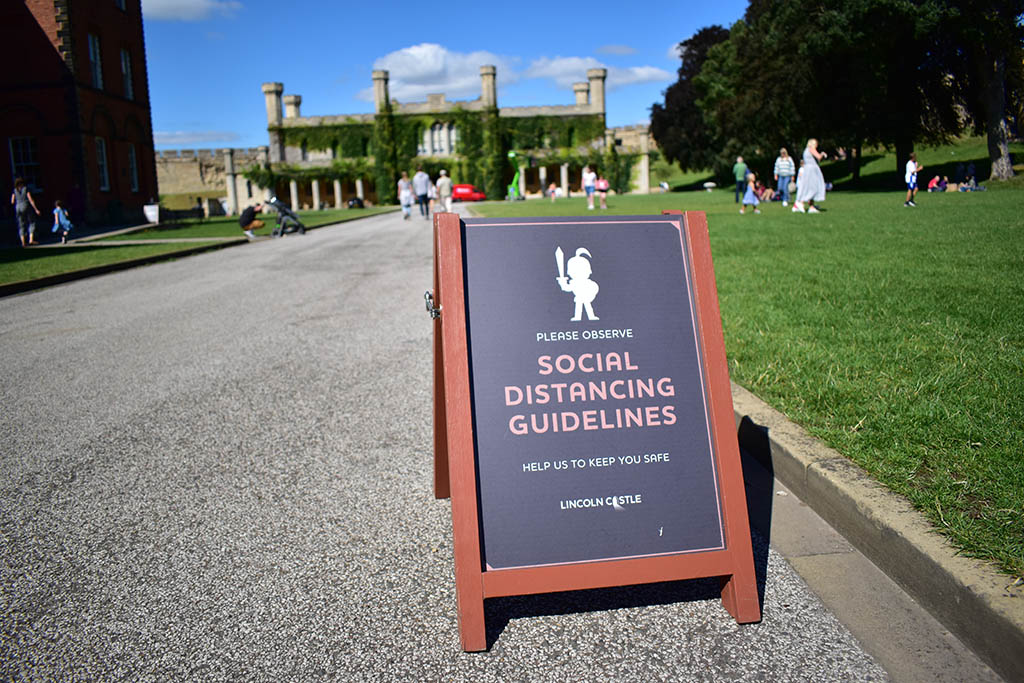 Lincoln Castle social distancing guidelines