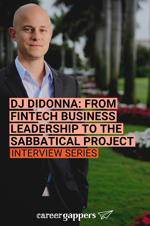 DJ DiDonna was leading a successful fintech company when he took a four-month sabbatical that led to a new research project. #sabbatical #sabbaticals #timeout #timeoff #careerbreak