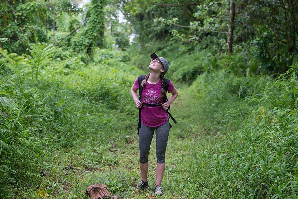 Lauren Keys hiking in the National Park of American Samoa