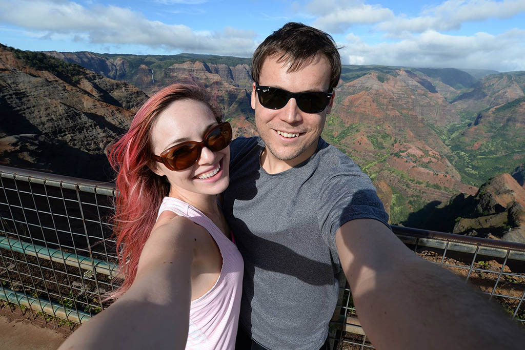 Lauren and Steven Kauai Waimea Canyon copy