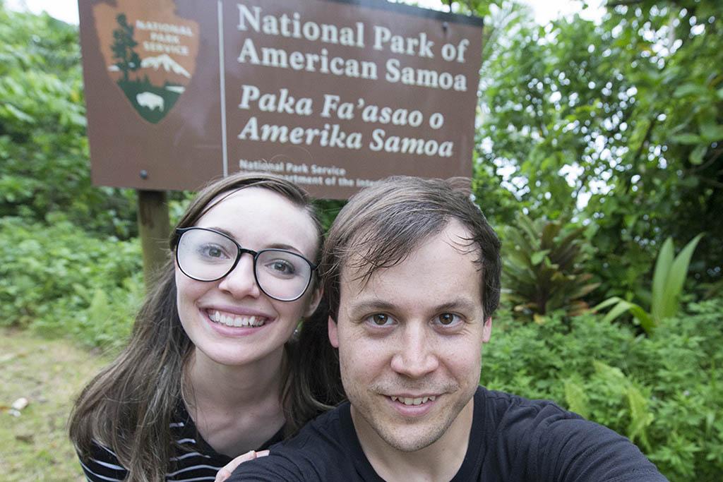 Lauren Keys and Steven National Park of American Samoa