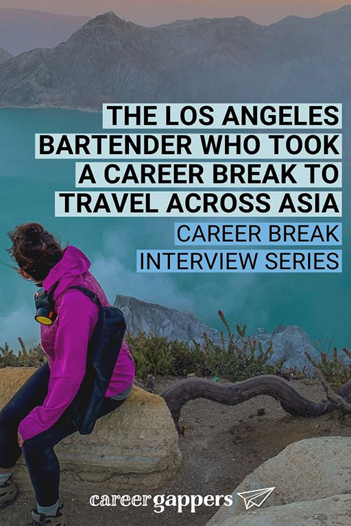 Geena tells the story of her bartending and travel life, being stuck in India during lockdown, and driving across the USA in a converted van. #bartender #careerbreak #travelcareerbreak #vanlife #travelstories