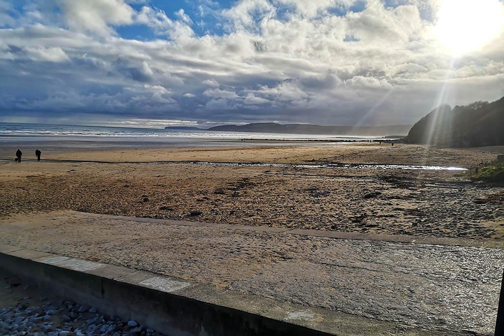 Benllech Anglesey Wales UK sunset