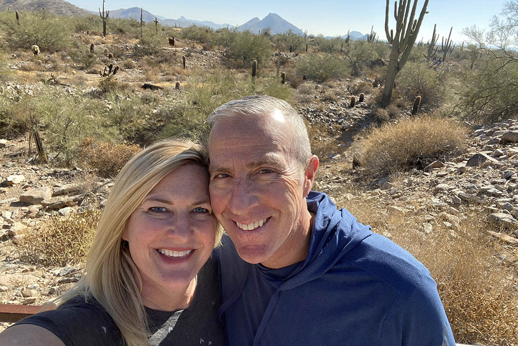 Jill Anderson hiking afternoons in Scottsdale Arizona