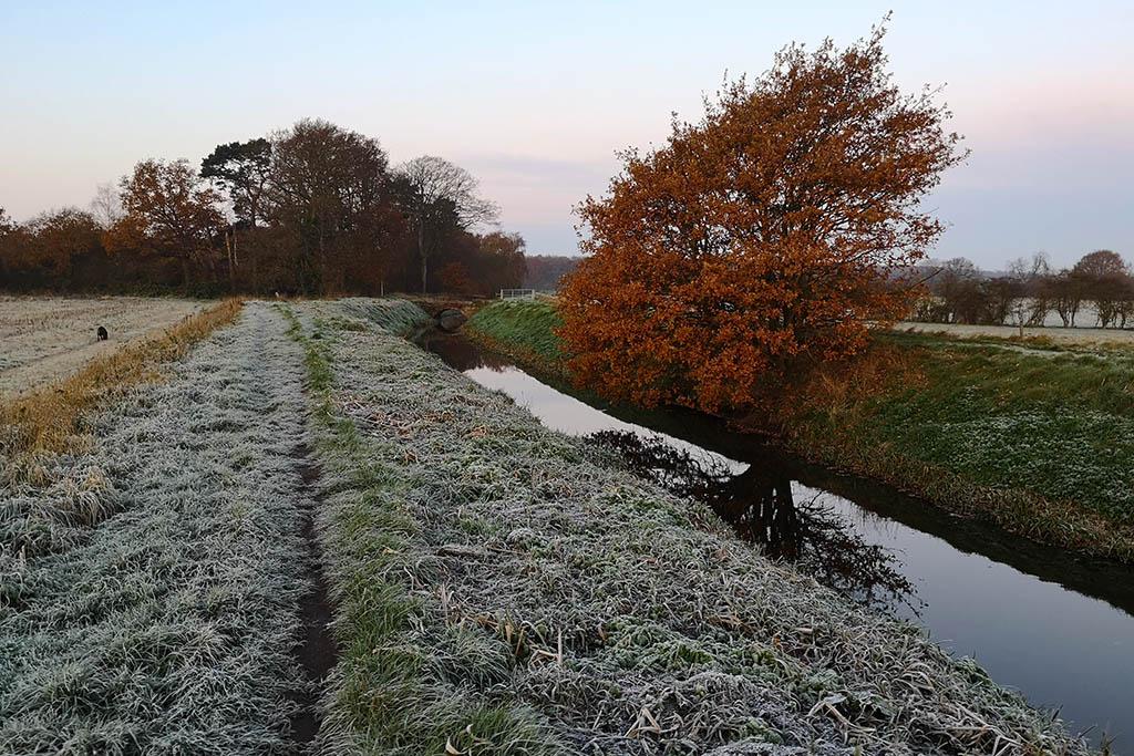 Winter walk Catchwater Drain Lincoln