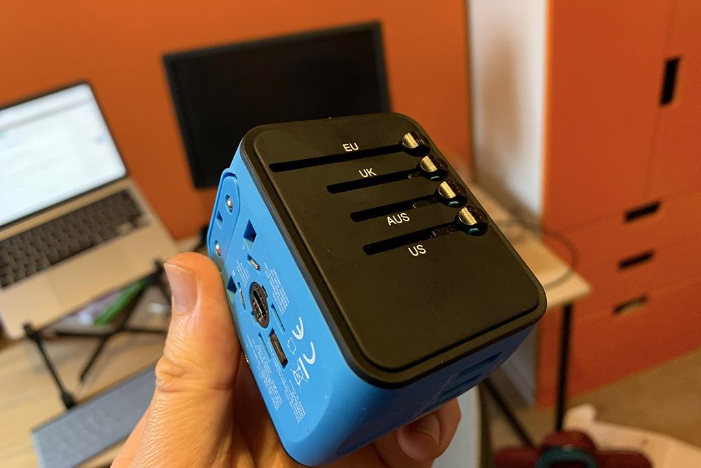 Remote working essentials international plug adapter