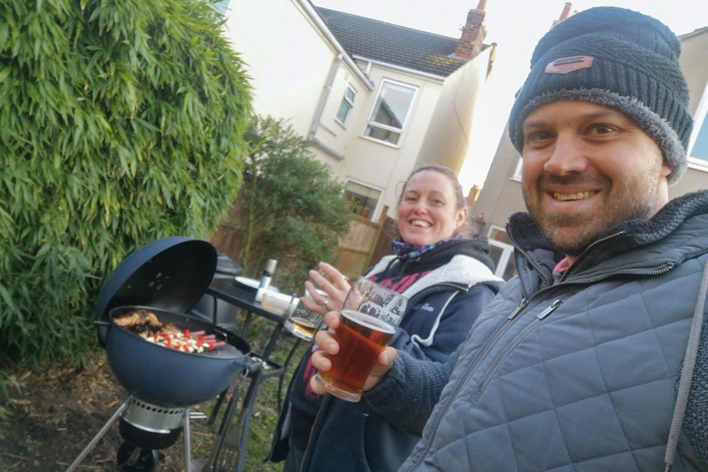 Alex and Lisa garden BBQ February