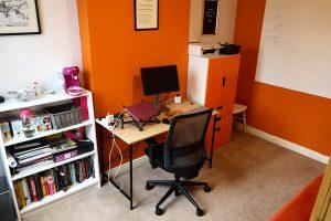 Alex office tidied