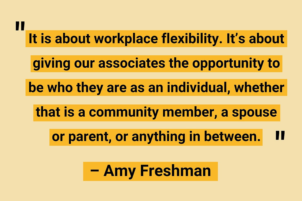Amy Freshman remote work business quote