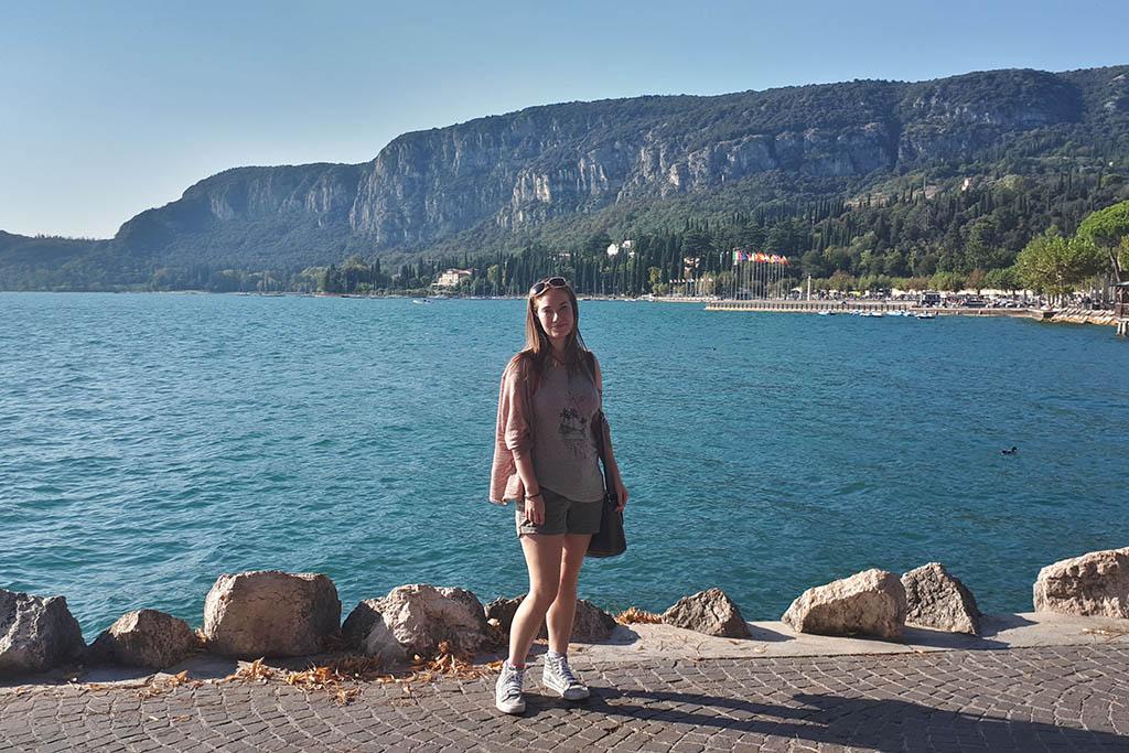 Miriam at Lake Garda