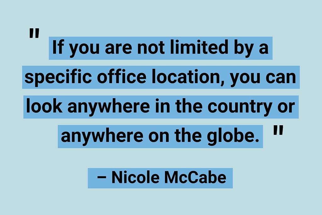 Nicole McCabe remote working quotes