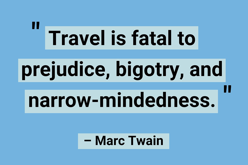Remote work travel quotes Marc Twain
