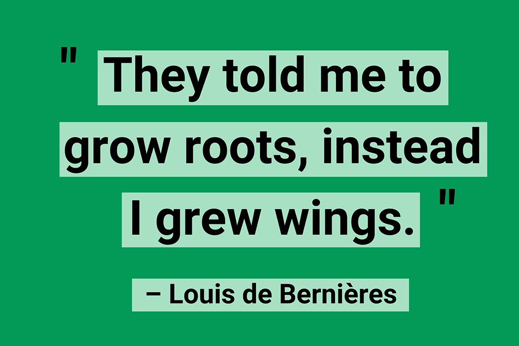 Remote working quotes roots wings