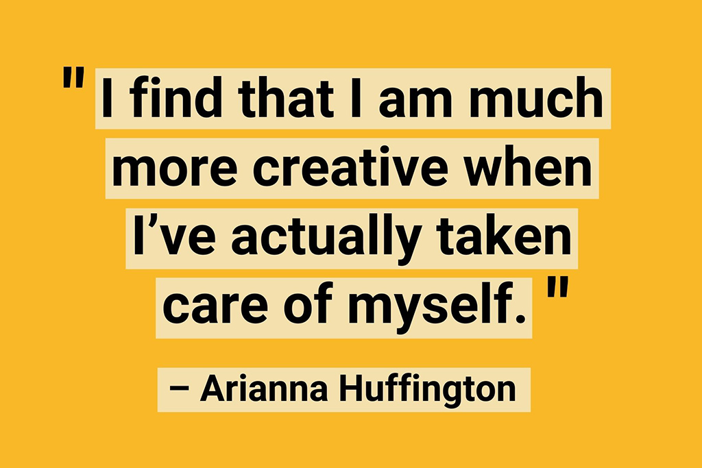 Work from home quotes Arianna Huffington