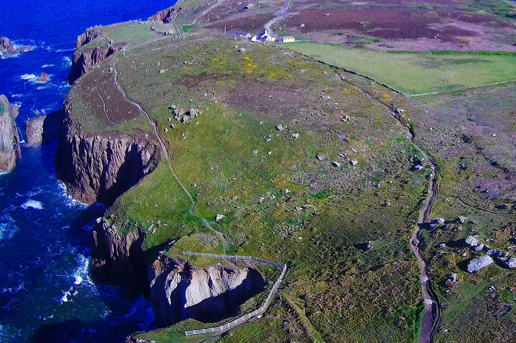 South West Coastal Path Cornwall Lands End