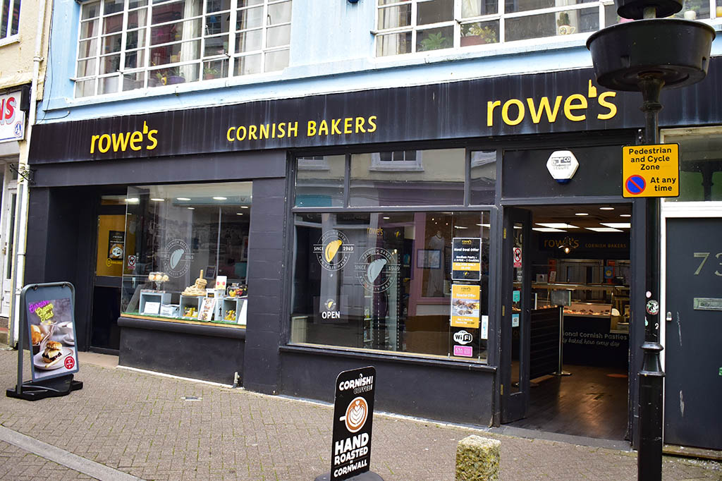 Places to eat in Penzance: Rowes Cornish Bakers