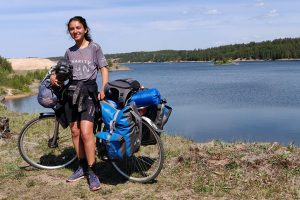 Nellie Khossousi bicycle lake