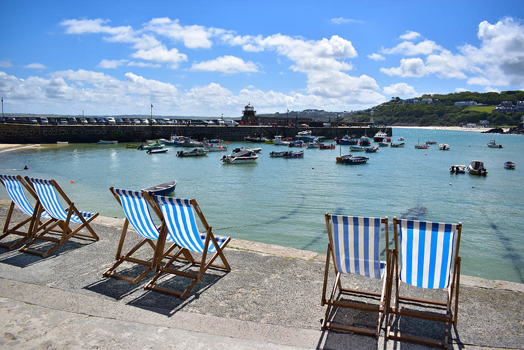 St Ives Harbour deck chairs