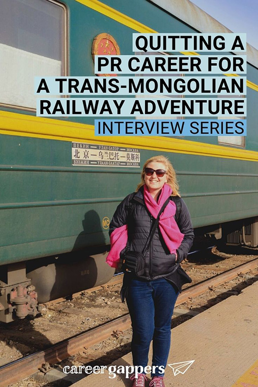 Laura Bannister left her busy PR career and life in London for a dream adventure on the Trans-Mongolian Railway. #careerbreak #sabbatical #sabbaticaltravel #careerchange