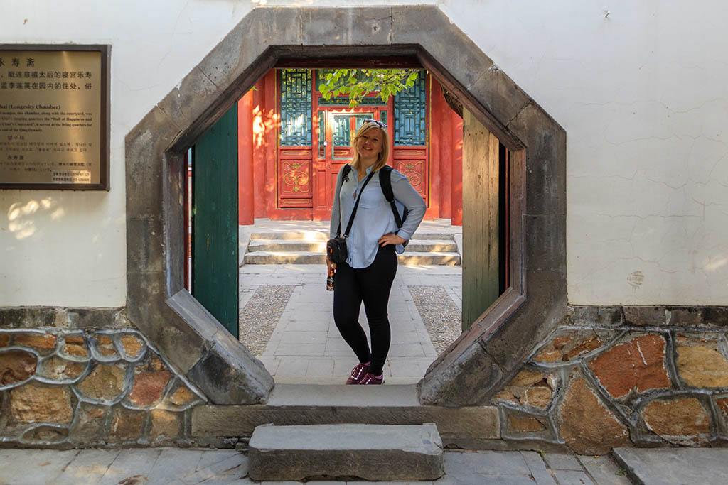 Laura Bannister at the Summer Palace in Beijing