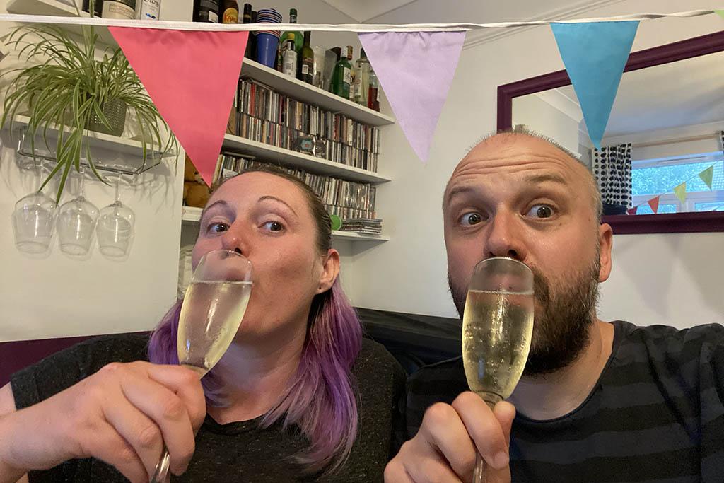 Traverse Awards champagne celebration